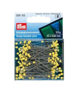 Prym 20g gele glaskopspelden